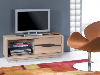 Petit meuble télé chêne massif RAMEAU