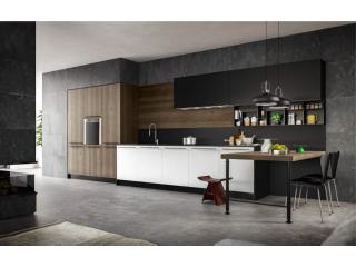 Alliance de bois et Fénix mat pour une cuisine ultra design