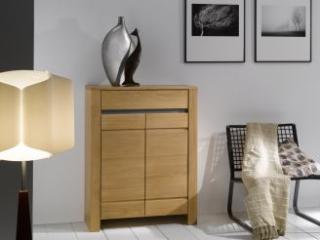 Meubles d'appui 2 portes 1 tiroir Ficus.  Dim L80 H105 P 35.  Prix indicatif 1181€ dont eco taxe 3€.