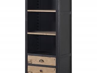 Petit bibus 3 étagères 3 tiroirs L 60 x H 190 x P 40