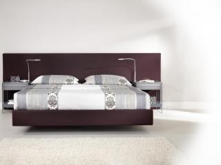 Décor Silhouette avec lit et tête de lit contemporaine