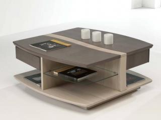 Table basse carrée 2 tiroirs Méditerranée