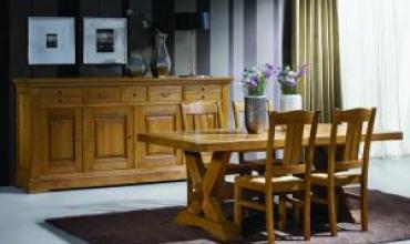 Salle à manger campagnarde BENOID meuble en chêne massif