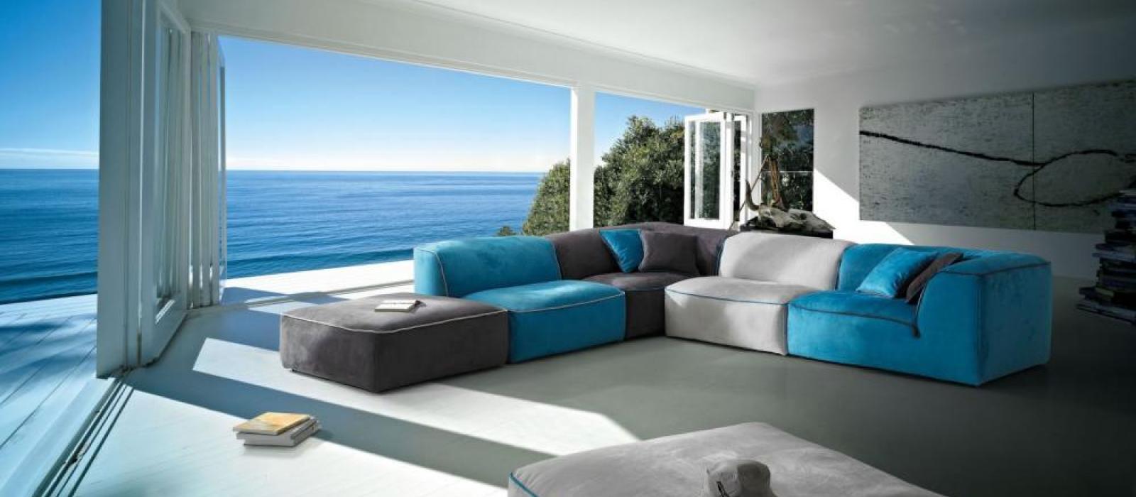 Canapé Modulable Grand Bleu
