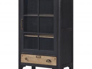 Petite vitrine 1 porte 1 tiroir L 70 H 119 P 40