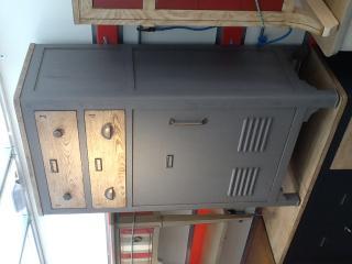 Chiffonnier 2 tiroirs 1 porte 1 tablette réglable L70 x H 120 x P 42