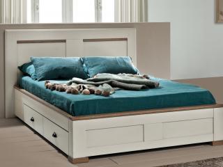 Lit 2 tiroirs pour literie en 140x190. Dimension L166 H104 P 200 prix 1708€ + eco-part 5,2€   Tête de lit seule 578€