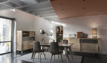 Salle à manger Artisane en chêne massif design industrie