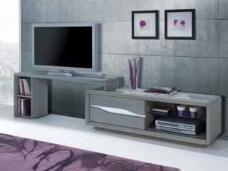 Meuble télé chêne massif RAMEAU