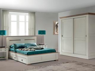 Lit 140 x 190 avec 2 tiroirs pour literie en 140x190       Dimensions  L166 H104 P200.       Prix dans cette finition:  1708€  +5,2€ eco-part