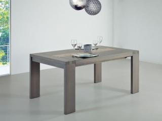 Table rectangulaire ZURICH 160x100 + 1 allonge portefeuille de 56cm. Teinte en photo 23/1 bandeau en 24/1 brossé. Prix indicatif 2153€ + 5,2€ eco-part