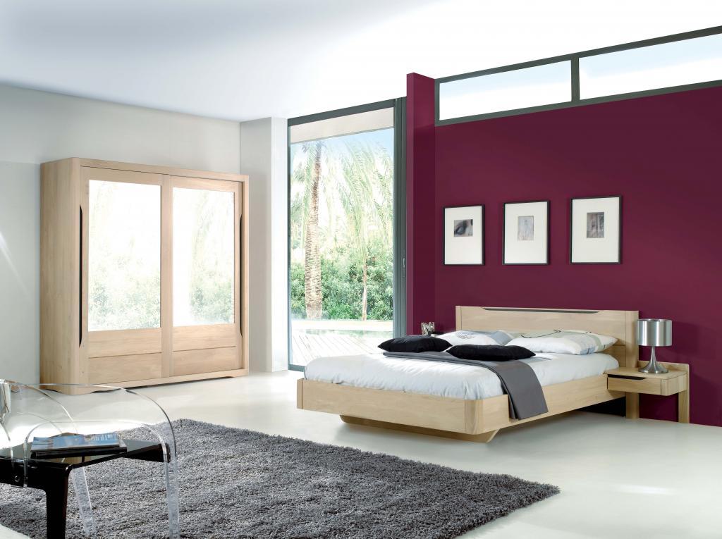 Chambre contemporaine LILLA chêne massif ~ Vente Meubles de chambre