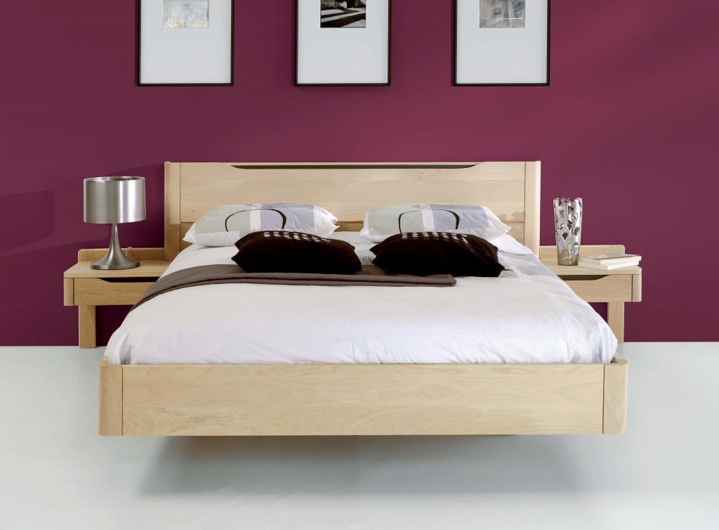 Chambre contemporaine lilla ch ne massif vente meubles de chambre - Chambre a coucher chene massif moderne ...