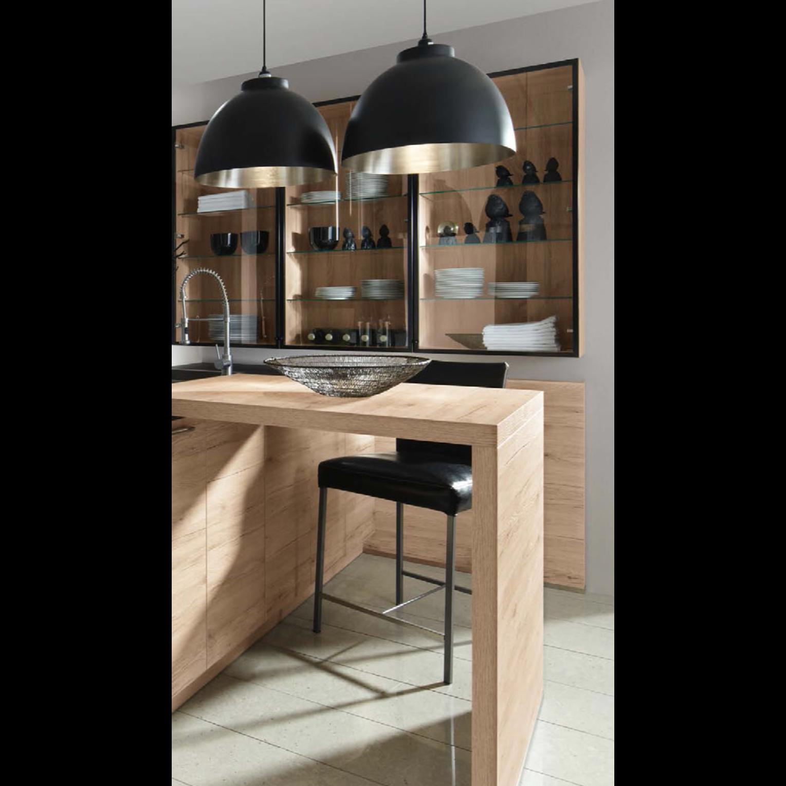 cuisine contemporaine bois et laque le mod le danube. Black Bedroom Furniture Sets. Home Design Ideas