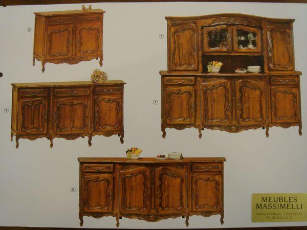 Meuble de style proven al venelles pose salle manger for Meuble de salle a manger provencale
