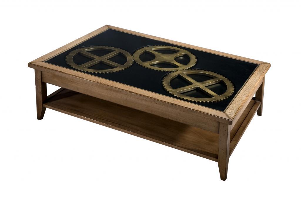 meubles de salon de style industriel mod le horloger. Black Bedroom Furniture Sets. Home Design Ideas