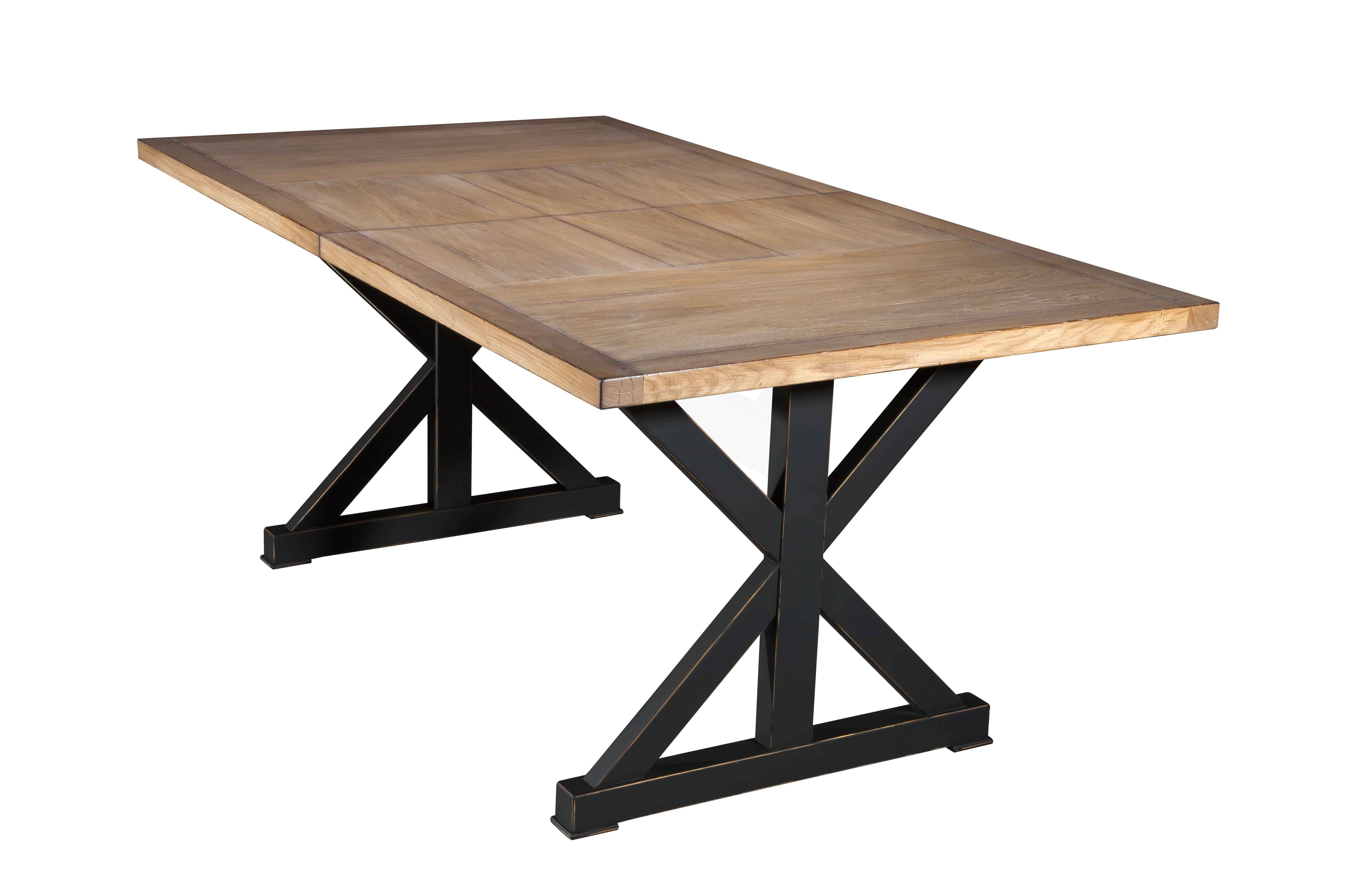 Emejing table salle a manger style atelier contemporary - Table salle a manger metal ...