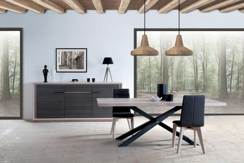 salle manger mod le zurich la modernit des meubles en ch ne massif. Black Bedroom Furniture Sets. Home Design Ideas