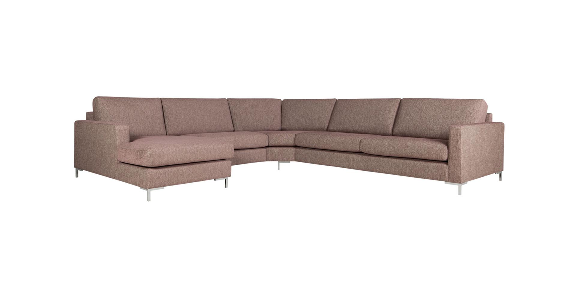 Salon quattro de sits canap salon d angle et fauteuil la modularit et le design en cuir ou - Salon angle tissu ...